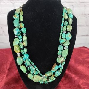 Silpada. 4 Strand Turquoise Necklace.